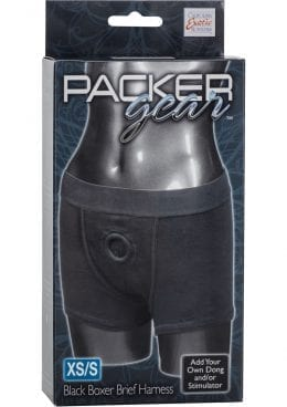 Packer Gear Boxer Brief Harness Black Xtra Small/Small
