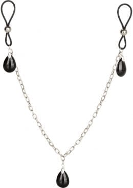 Nipply Play Non Piercing Nipple Chain Jewelry Onyx