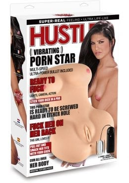 Hustler Vibrating Porn Star TPR Flesh