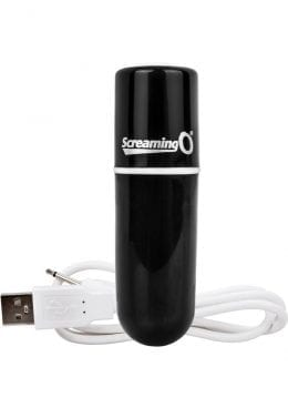 Charged Vooom Rechargeable Bullet Vibe Waterproof Black
