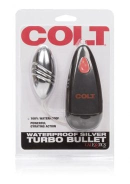 Colt Turbo Bullet Wired Remote Control Waterproof Silver