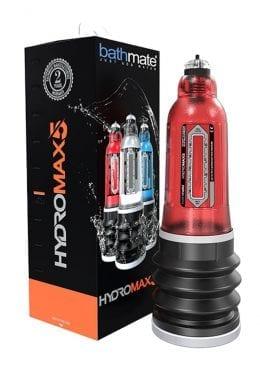 Bathmate Hydromax5 Penis Pump Waterproof Brilliant Red