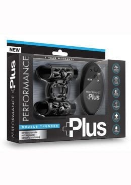 Performance Plus Double Thunder Cockring Multi Function Remote Control