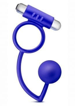 Performance Penetrator Indigo Anal Ball W/Vibrating Cockring