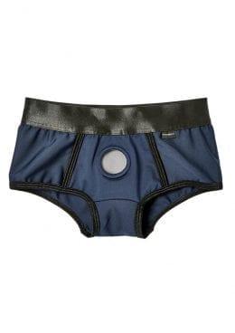 EM. EX. Active Harness Wear Fit Harness Boy Shorts Blue Medium-25-28