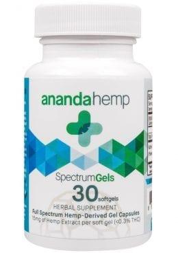 Ananda Hemp Spectrum Gels 30ct Herbal Supplement