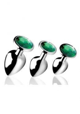Bootysparks Emerald Gem Plug Set
