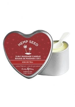 Heart Candle Kiss Or Tell 4oz