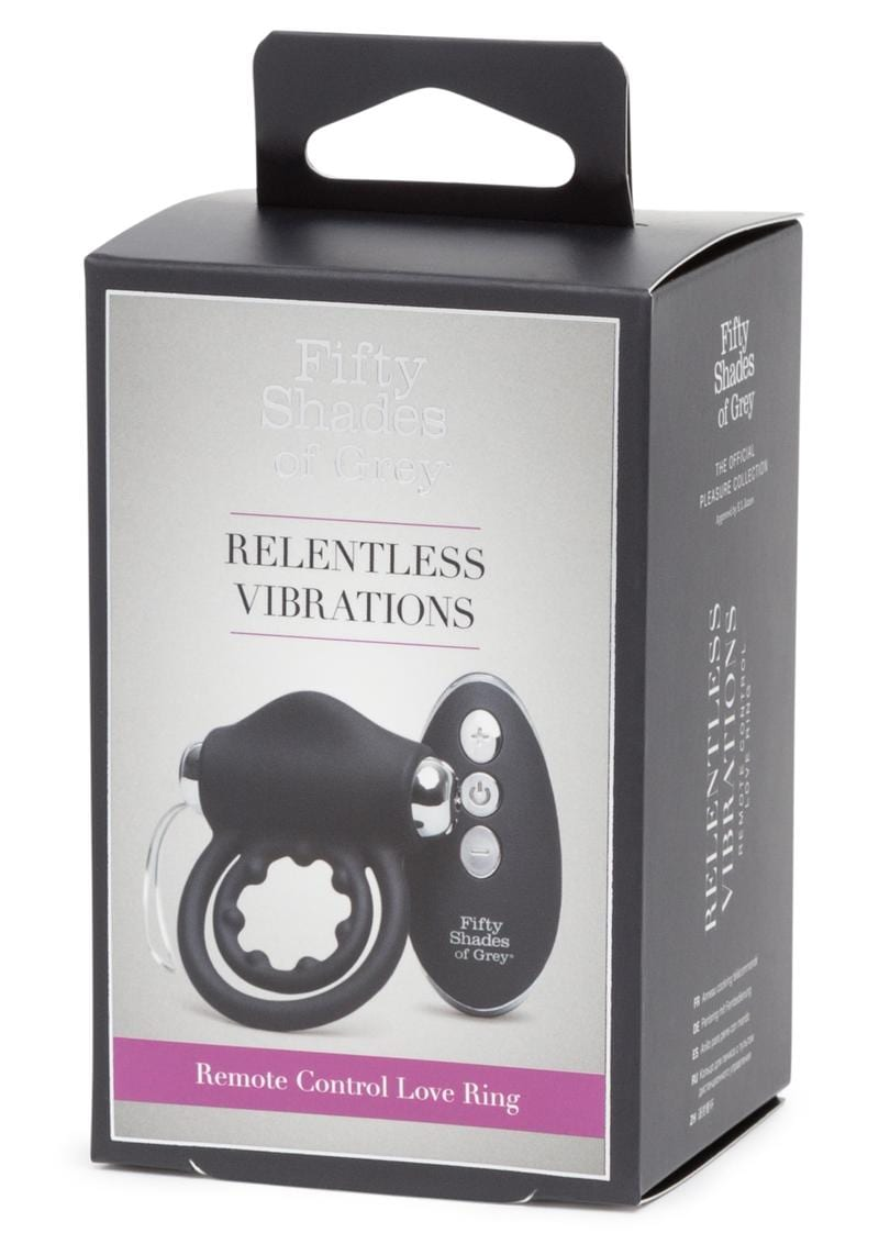Fifty Shades Of Grey Relentless Vibrations Remote Control Love Ring Waterproof Rechargeable