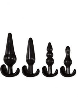 Adam and Eve 4 Piece Anal Plug Kit Black