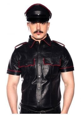 Prowler Red Police Shirt Pipe Blk/red Md