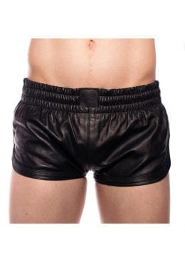 Prowler Red Leather Sport Shorts Blk Xxl