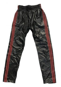 Prowler Red Leather Joggers Red Md